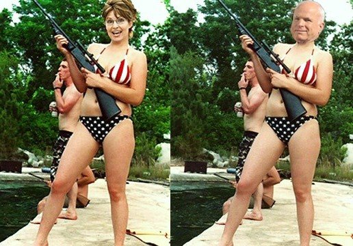 gun Palin bikini and